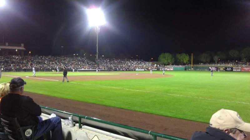 Vista sentada para Scottsdale Stadium Secção 126 Fila c Lugar 3