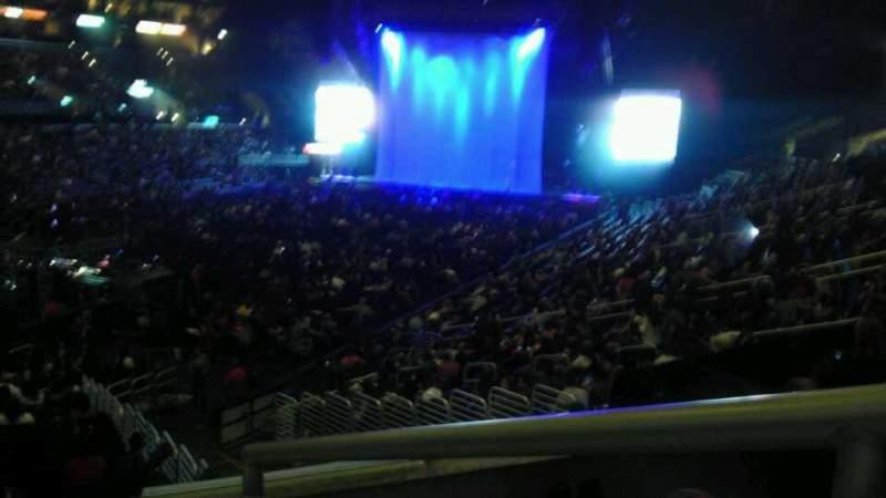 Vista sentada para Staples Center Secção 205 Fila 3 Lugar 1