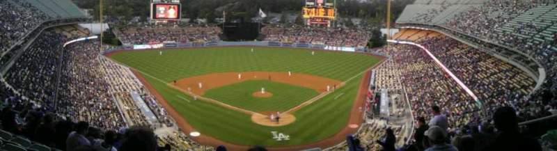 Vista sentada para Dodger Stadium Secção 3RS Fila S Lugar 8