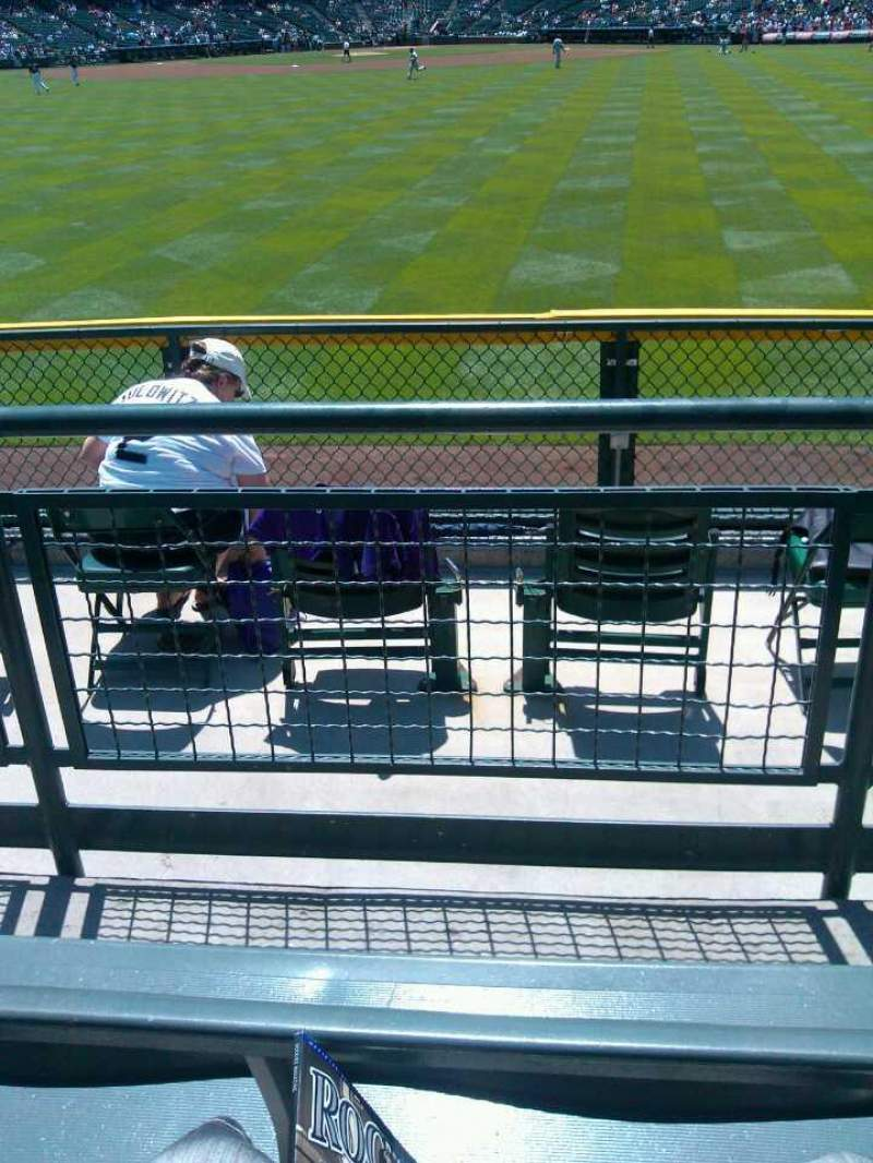 Vista sentada para Coors Field Secção 159 Fila 3 Lugar 8