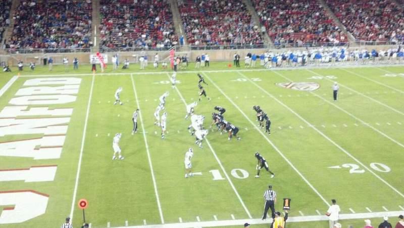 Vista sentada para Stanford Stadium Secção 216 Fila 1 Lugar 20