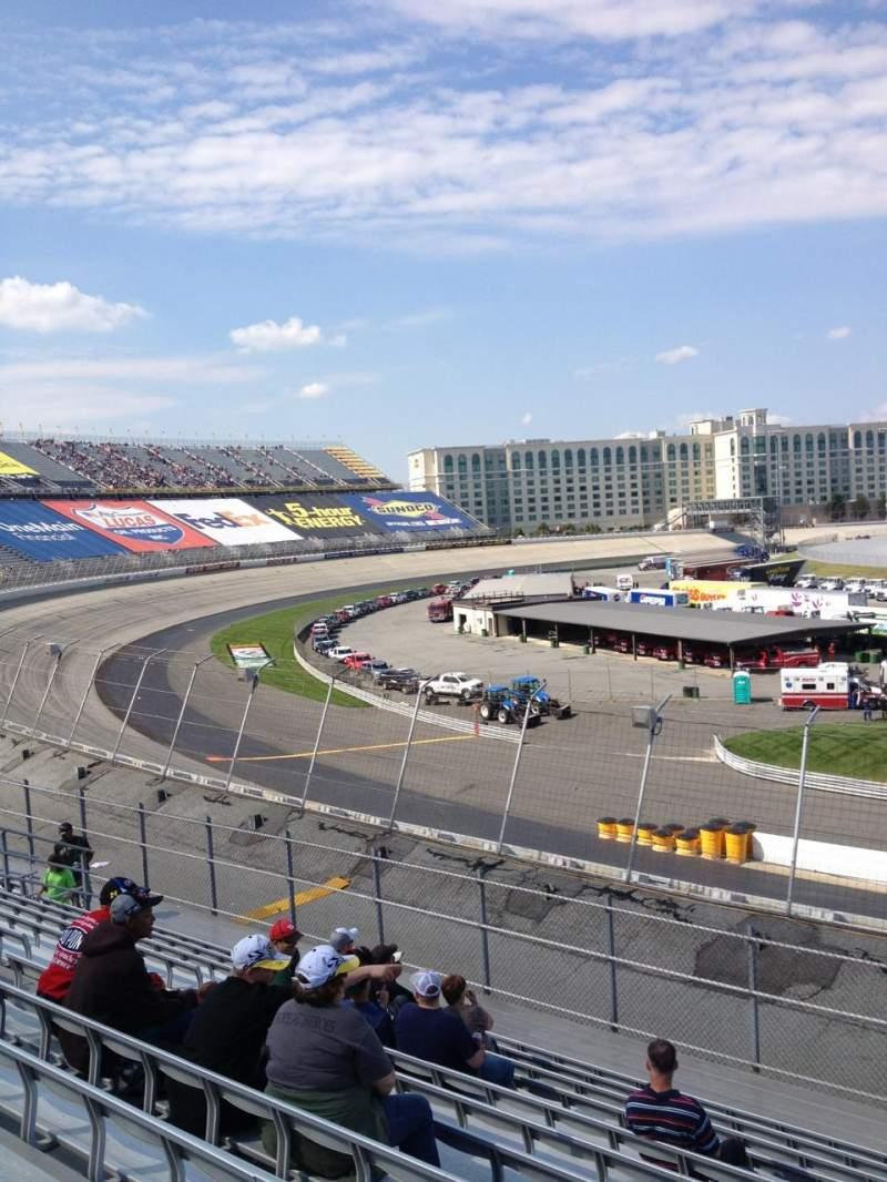 Vista sentada para Dover International Speedway Secção 127 Fila 12 Lugar 6