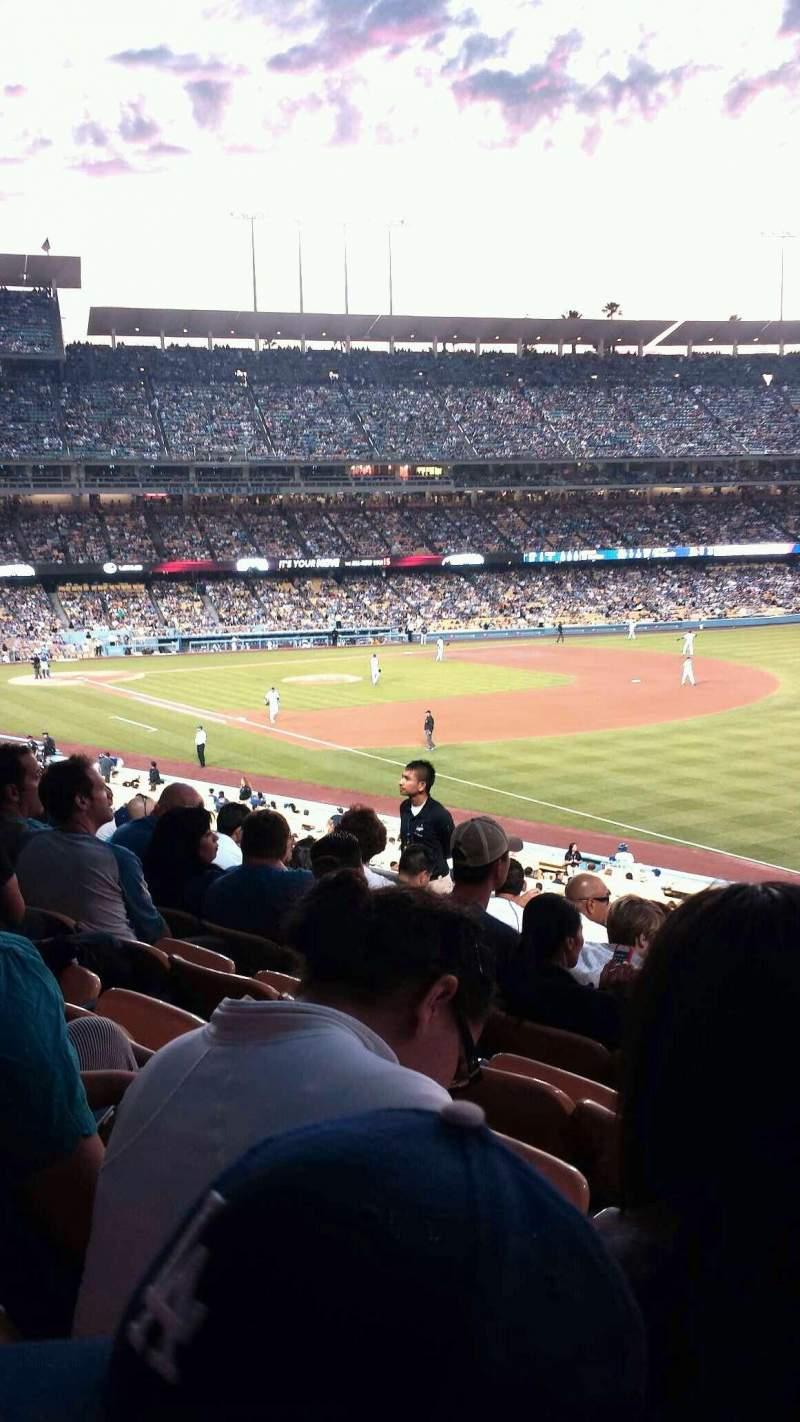 Vista sentada para Dodger Stadium Secção 158LG Fila h Lugar 11