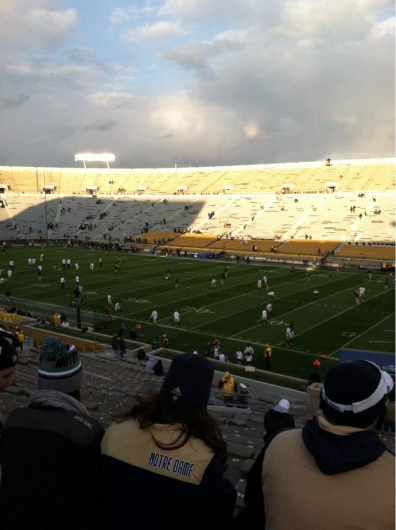 Vista sentada para Notre Dame Stadium Secção 23 Fila 49 Lugar 29