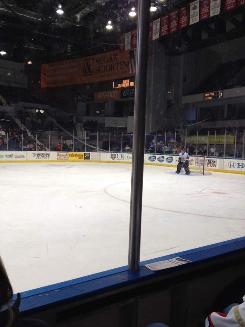 Vista sentada para Blue Cross Arena Secção 125 Fila B Lugar 6