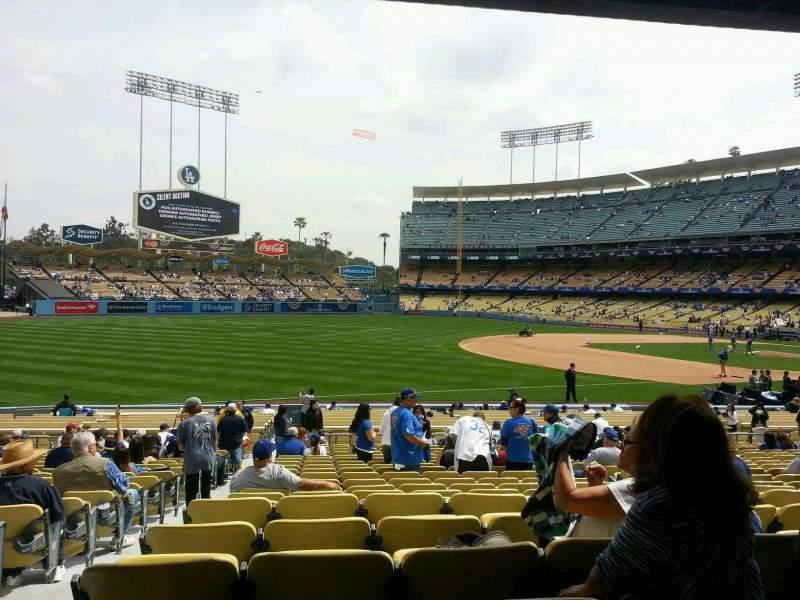 Vista sentada para Dodger Stadium Secção 37fd Fila v Lugar 7