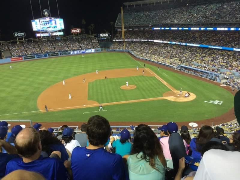 Vista sentada para Dodger Stadium Secção 15rs Fila G Lugar 12