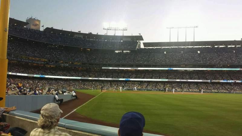 Vista sentada para Dodger Stadium Secção 52FD Fila B Lugar 6