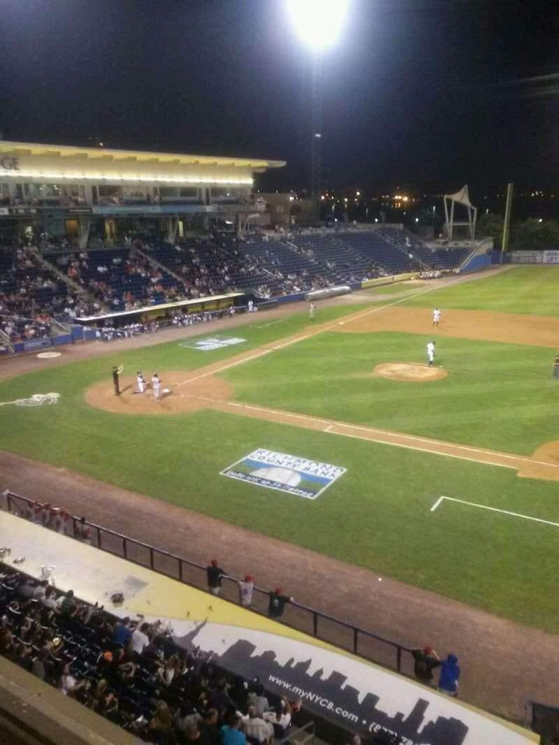 Vista sentada para Richmond County Bank Ballpark Secção Skyline Suite Fila 1 Lugar 28