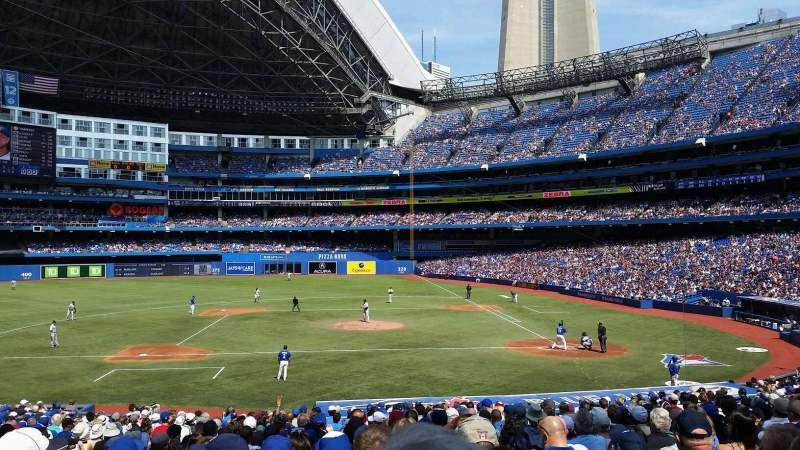 Vista sentada para Rogers Centre Secção 226r Fila 32 Lugar 6