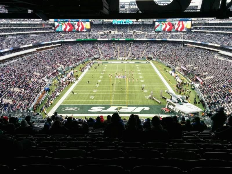 Vista sentada para MetLife Stadium Secção 226 Fila 18 Lugar 13