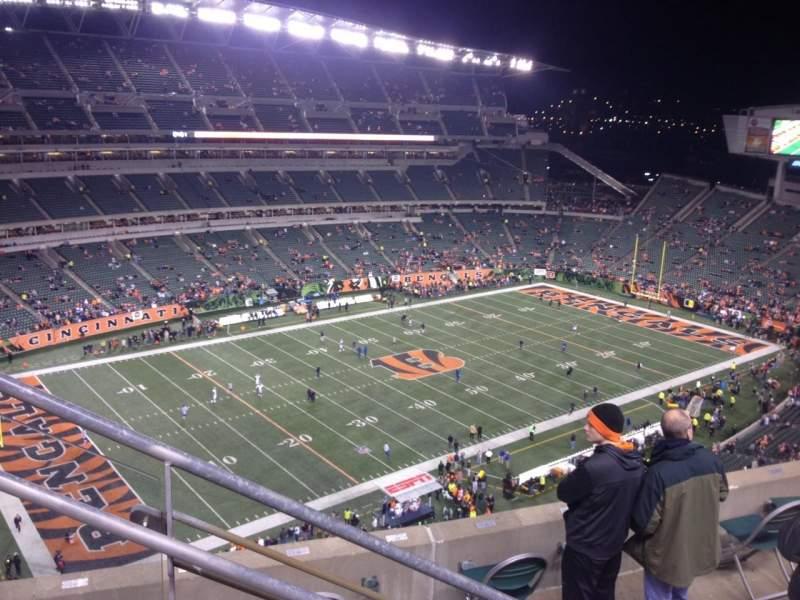 Vista sentada para Paul Brown Stadium Secção 315 Fila 13 Lugar 19