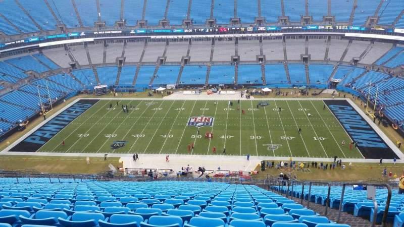 Vista sentada para Bank of America Stadium Secção 514 Fila 33 Lugar 3
