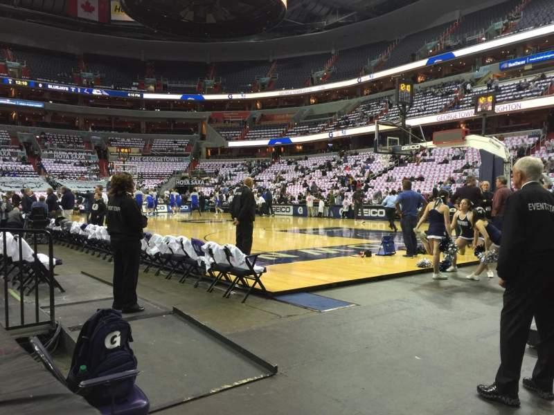 Vista sentada para Capital One Arena Secção 113 Fila A Lugar 11
