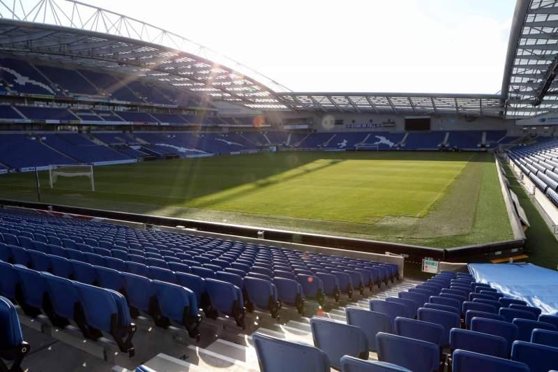 Vista sentada para American Express Community Stadium Secção S1B Fila P
