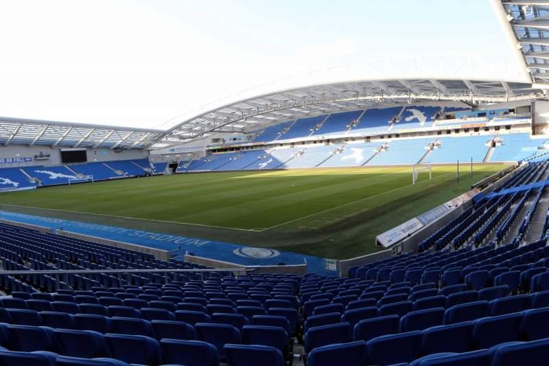 Vista sentada para American Express Community Stadium Secção S1I Fila P