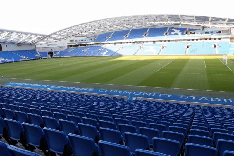 Vista sentada para American Express Community Stadium Secção W1B Fila W