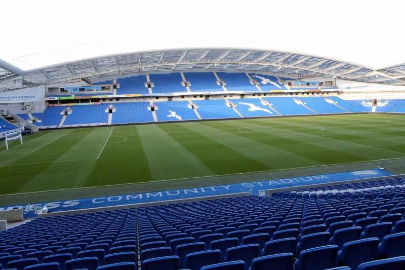 Vista sentada para American Express Community Stadium Secção W1H Fila X