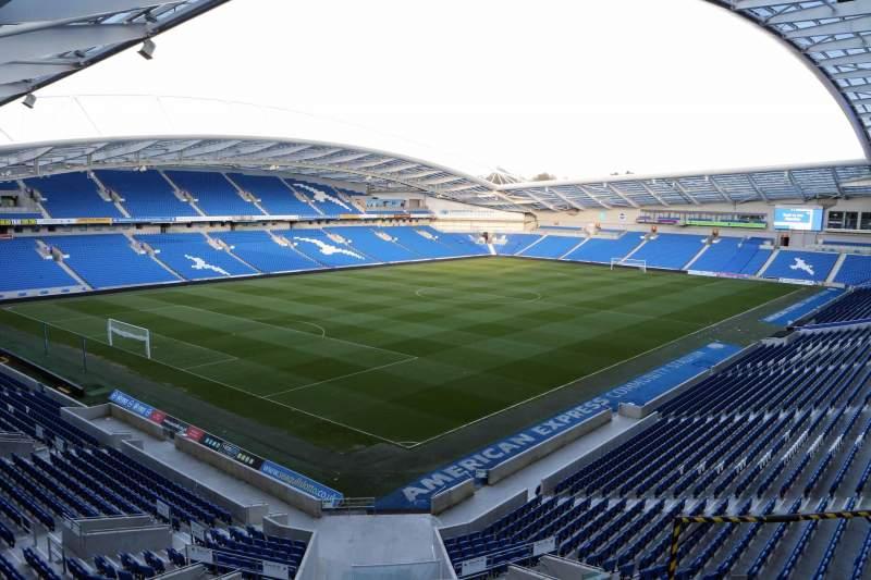 Vista sentada para American Express Community Stadium Secção N2B