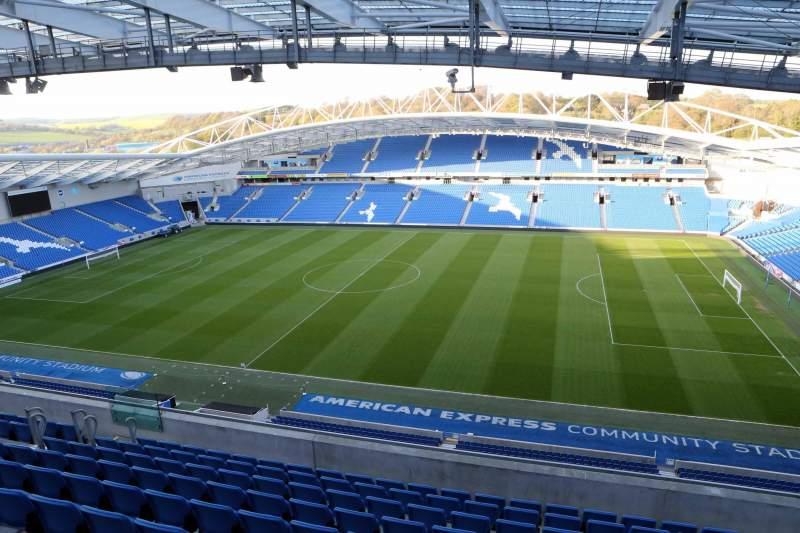 Vista sentada para American Express Community Stadium Secção W3C Fila G