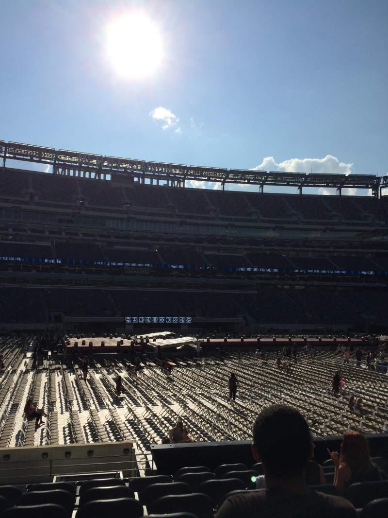 Vista sentada para MetLife Stadium Secção 115c Fila 9 Lugar 10