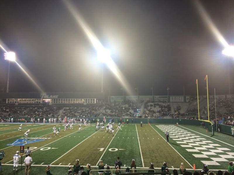 Vista sentada para Yulman Stadium Secção 109