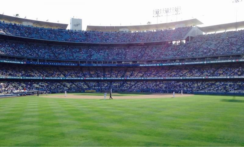 Vista sentada para Dodger Stadium Secção Right Field Pavillion