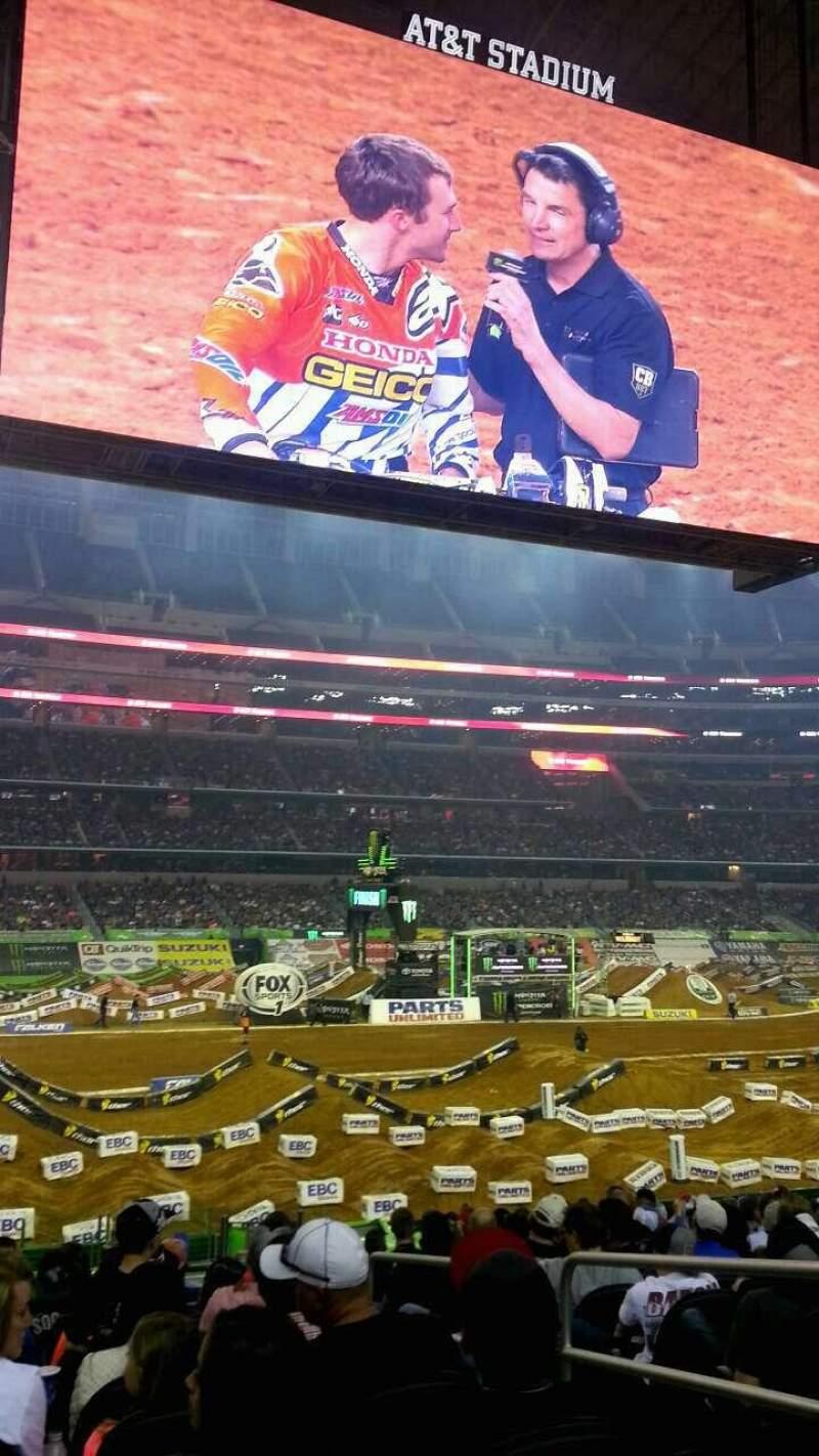 Vista sentada para AT&T Stadium