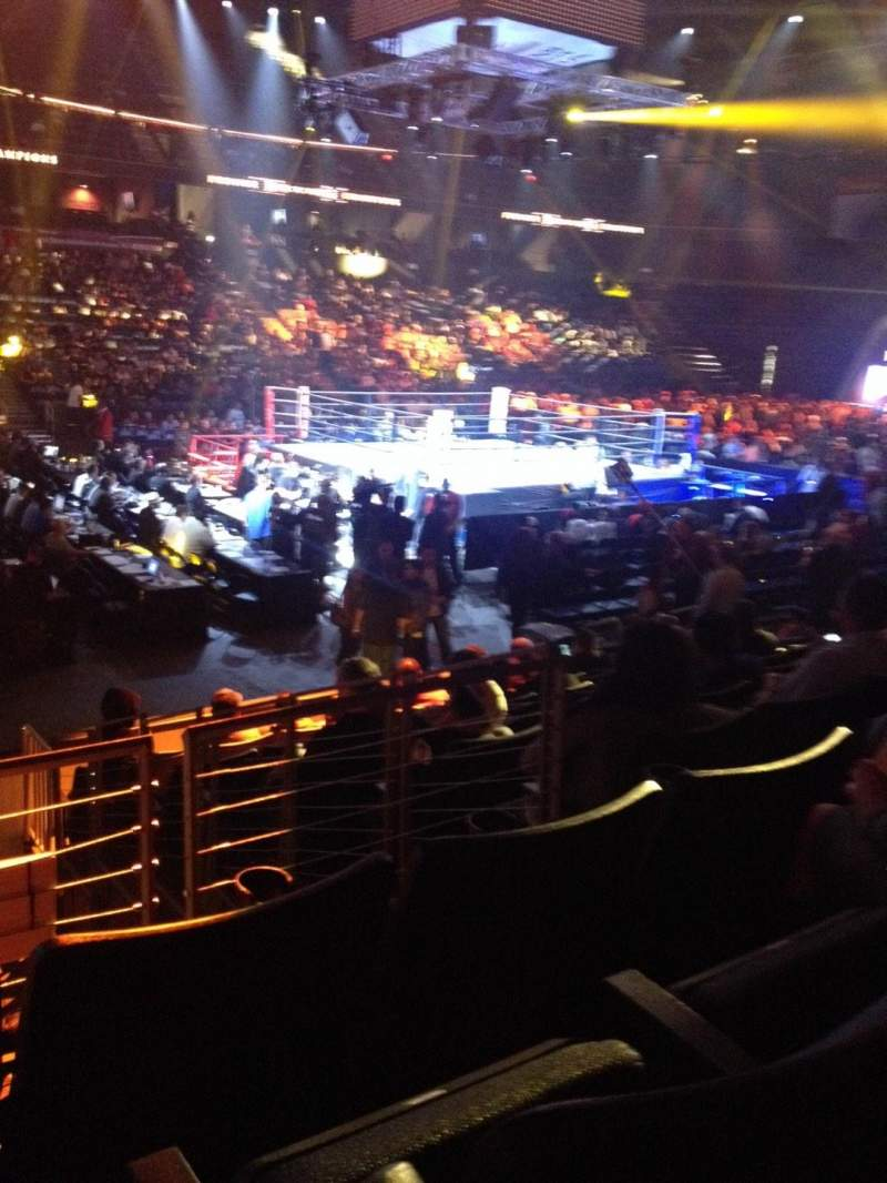 Vista sentada para Toyota Arena Secção 105 Fila J Lugar 16