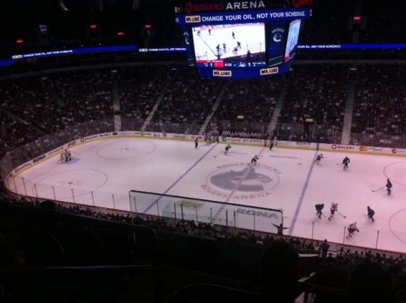 Vista sentada para Rogers Arena Secção 307 Fila 12 Lugar 1
