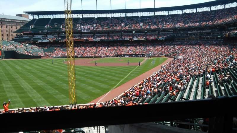Vista sentada para Oriole Park at Camden Yards Secção 77 Fila 6 Lugar 1