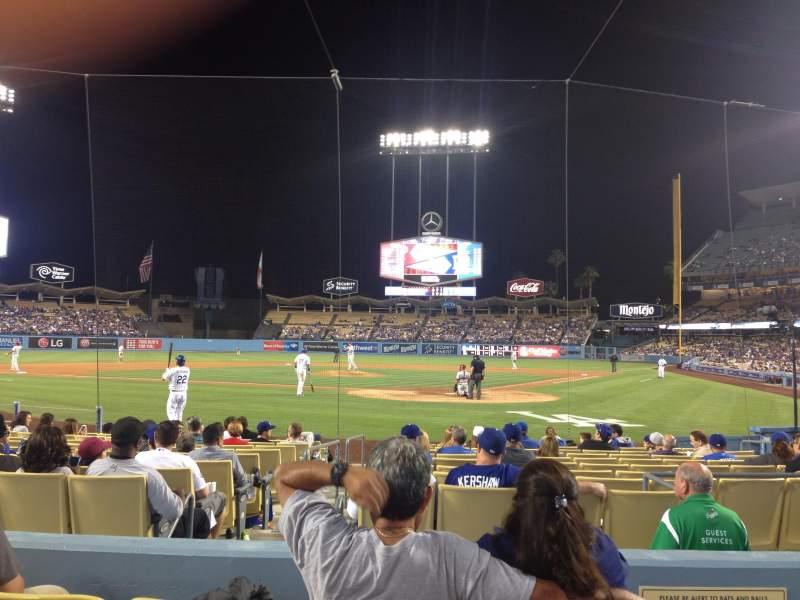 Vista sentada para Dodger Stadium Secção Field 5 VIP Fila D Lugar 1