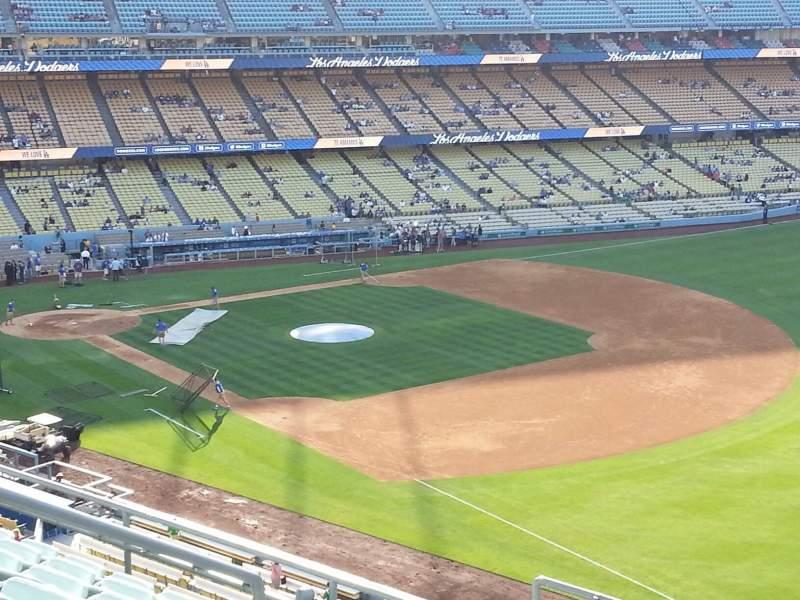 Vista sentada para Dodger Stadium Secção 40RS Fila F Lugar 7