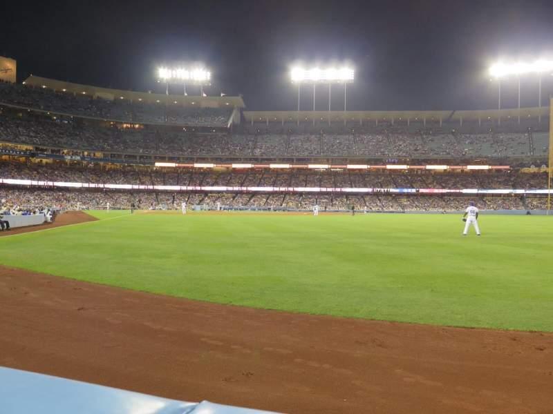 Vista sentada para Dodger Stadium Secção 52FD Fila AA Lugar 1