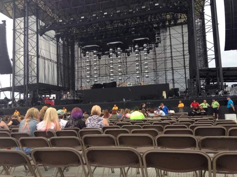 Vista sentada para Hershey Park Stadium Secção B Fila 22 Lugar 1