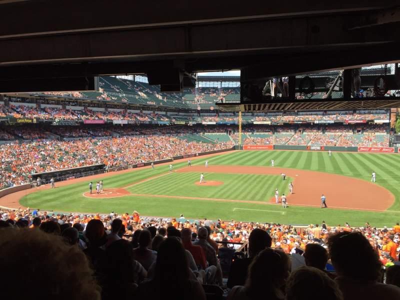Vista sentada para Oriole Park at Camden Yards Secção 19 Fila 10 Lugar 7