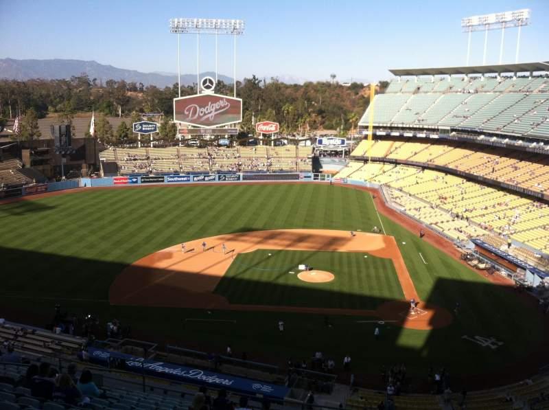 Vista sentada para Dodger Stadium Secção 11RS Fila O Lugar 19