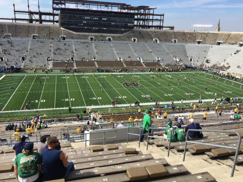 Vista sentada para Notre Dame Stadium Secção 111 Fila 20 Lugar 25