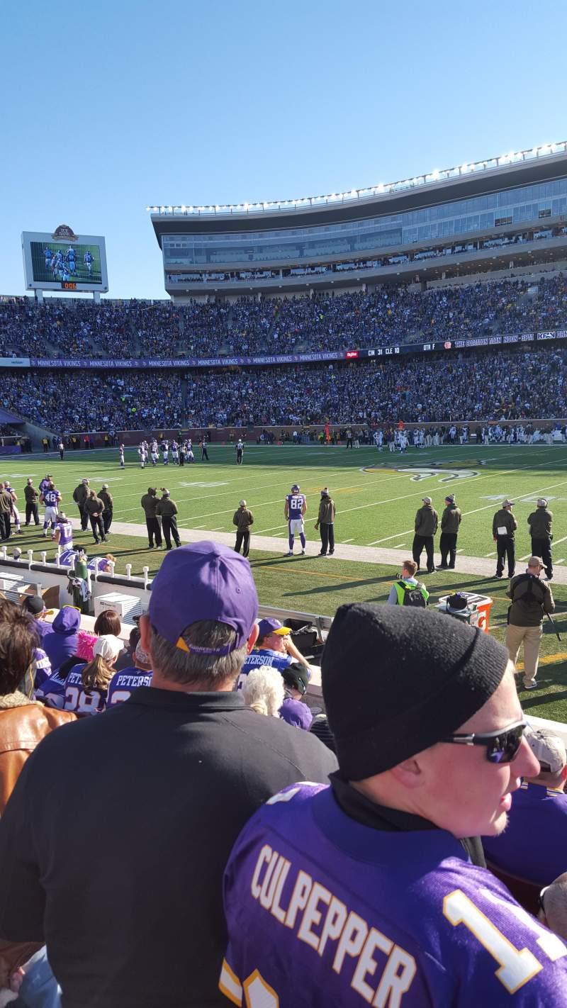 Vista sentada para TCF Bank Stadium Secção 109 Fila 6 Lugar 10
