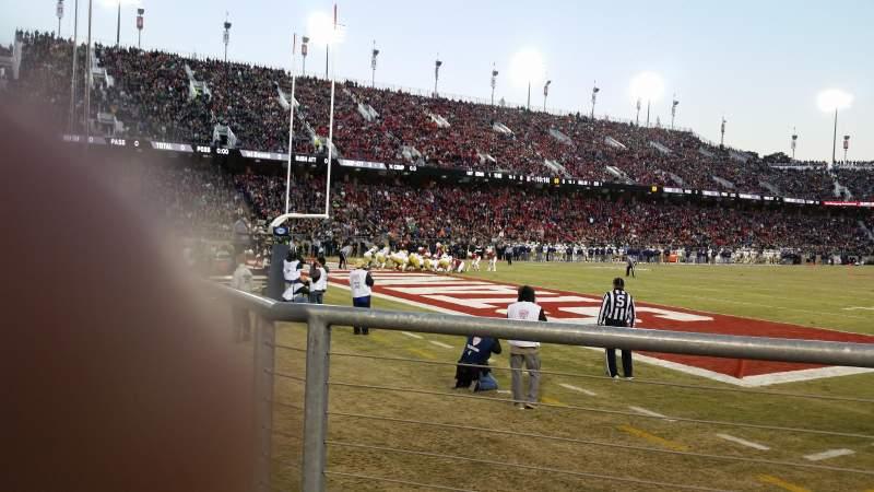 Vista sentada para Stanford Stadium Secção 120 Fila A Lugar 3