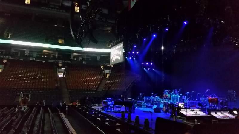 Vista sentada para Scotiabank Arena Secção 118 Fila 8 Lugar 7
