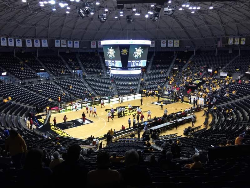 Vista sentada para Charles Koch Arena Secção 123 Fila 33 Lugar 21
