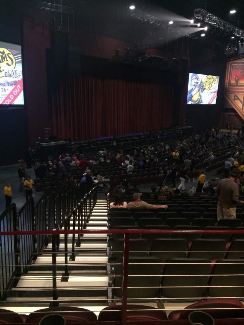 Vista sentada para Choctaw Grand Theater Secção 309 Fila T Lugar 4