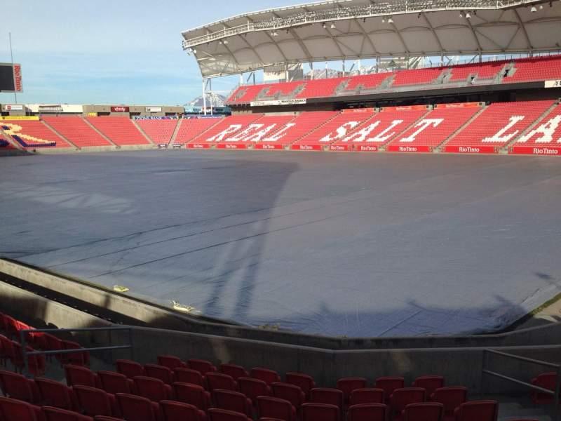Vista sentada para Rio Tinto Stadium Secção 14 Fila p Lugar 10