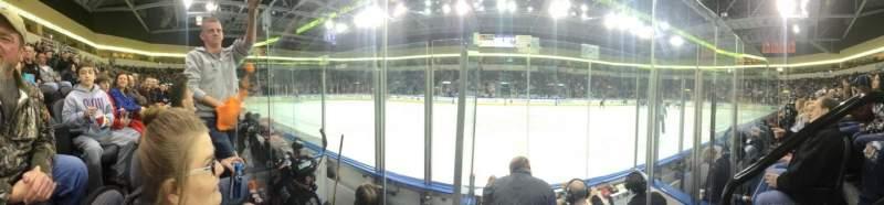 Vista sentada para Cable Dahmer Arena Secção 105 Fila C Lugar 1