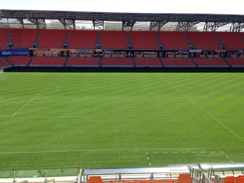 Vista sentada para BBVA Stadium Secção 207 Fila B Lugar 10