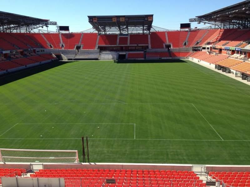 Vista sentada para BBVA Compass Stadium Secção 215 Fila D Lugar 14