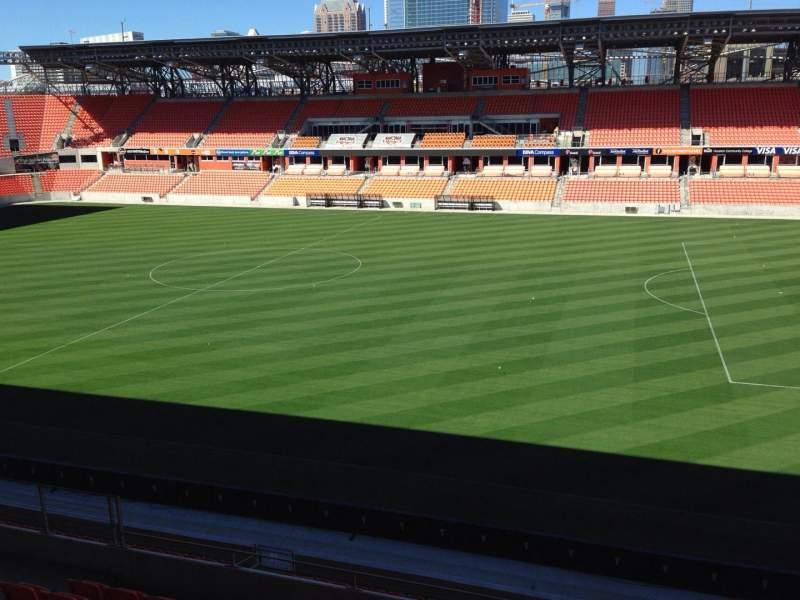 Vista sentada para BBVA Stadium Secção 224 Fila J Lugar 15