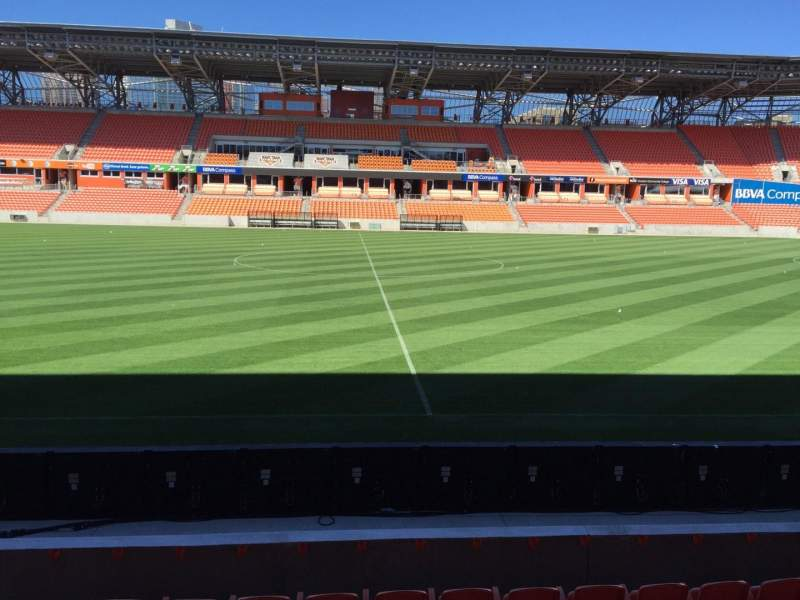 Vista sentada para BBVA Stadium Secção 126 Fila F Lugar 15