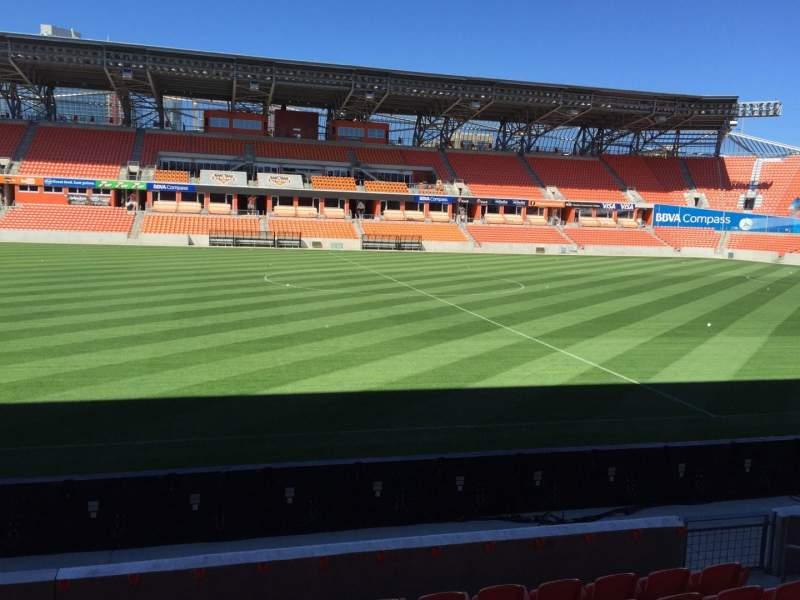 Vista sentada para BBVA Stadium Secção 127 Fila F Lugar 15
